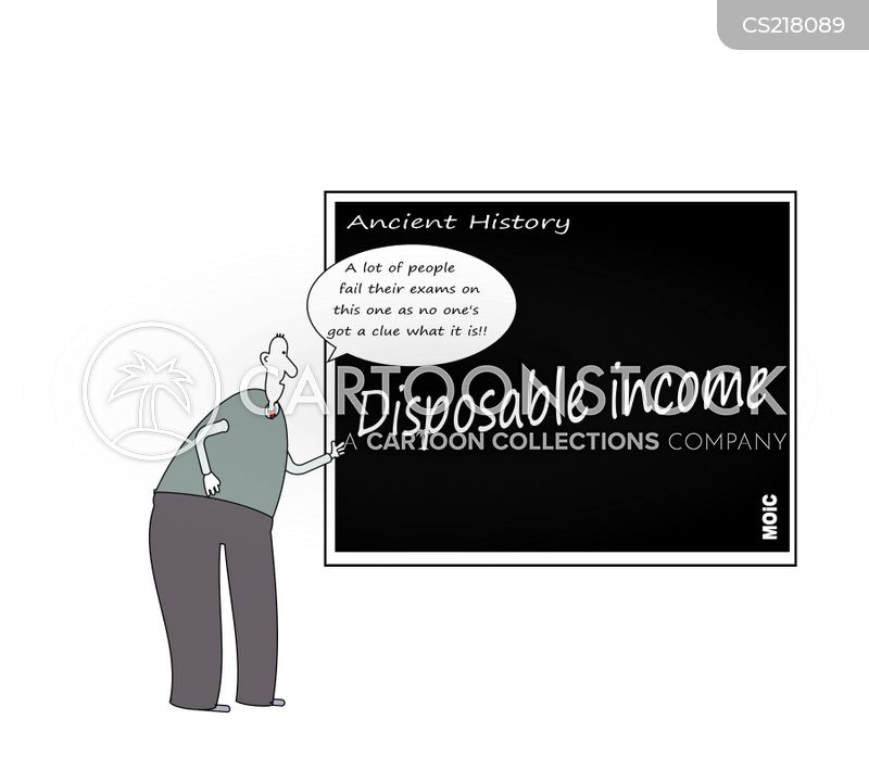 disposable incomes cartoon