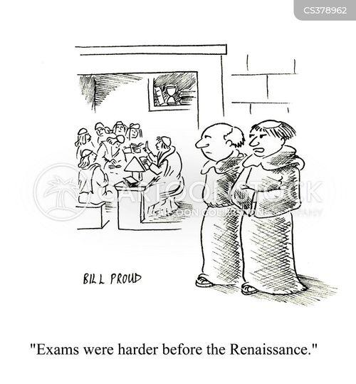 exams getting easier cartoon