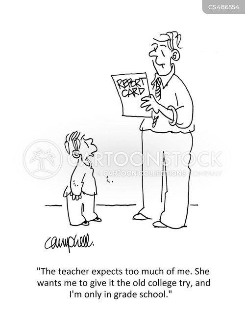 pushiness cartoon