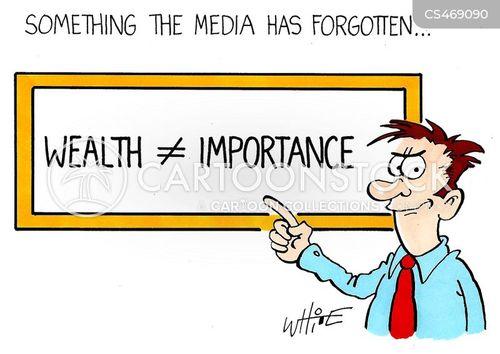 personal wealth cartoon