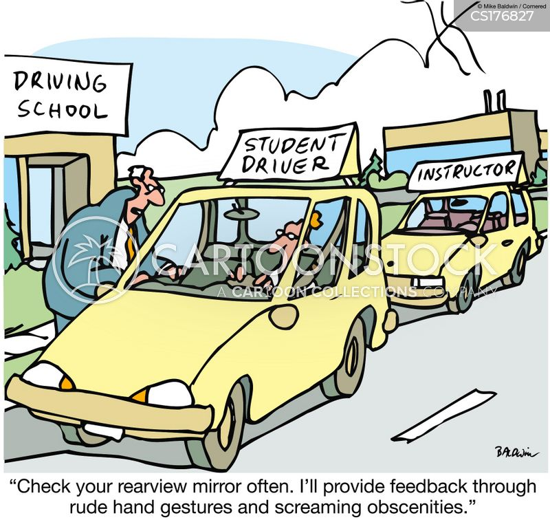 learner driver cartoon