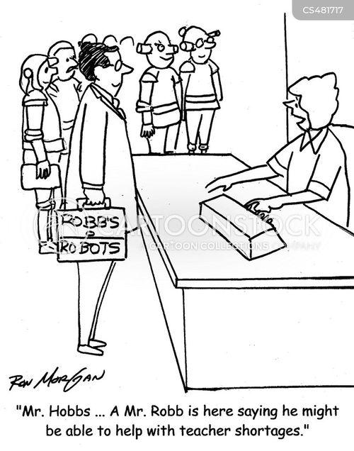 teacher shortages cartoon