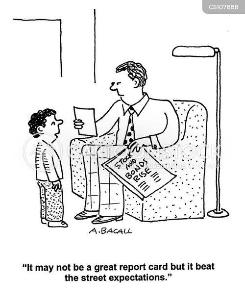 bad report card cartoon