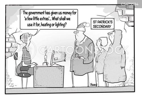 education cuts cartoon