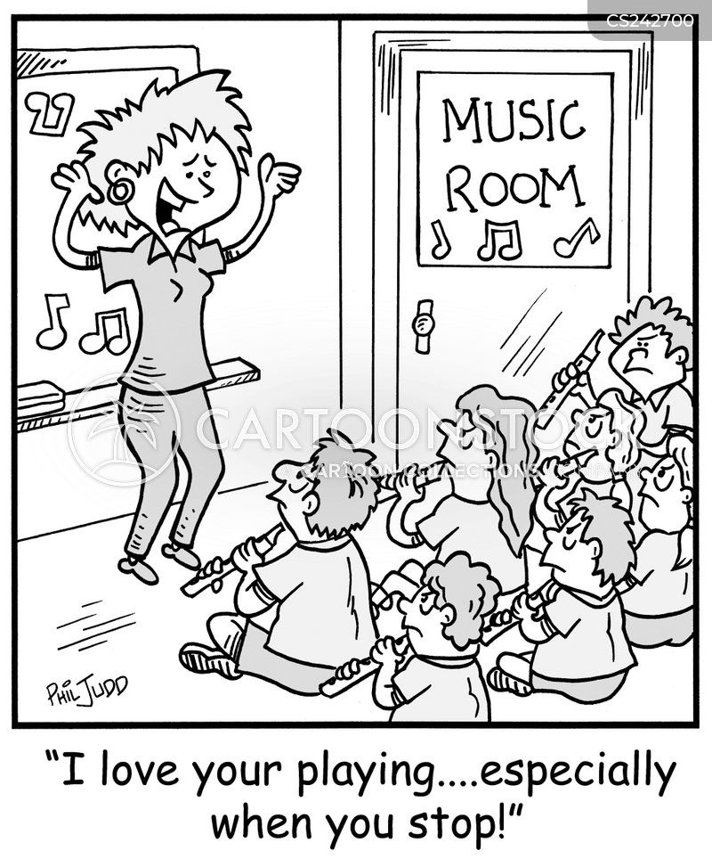 recorder cartoon