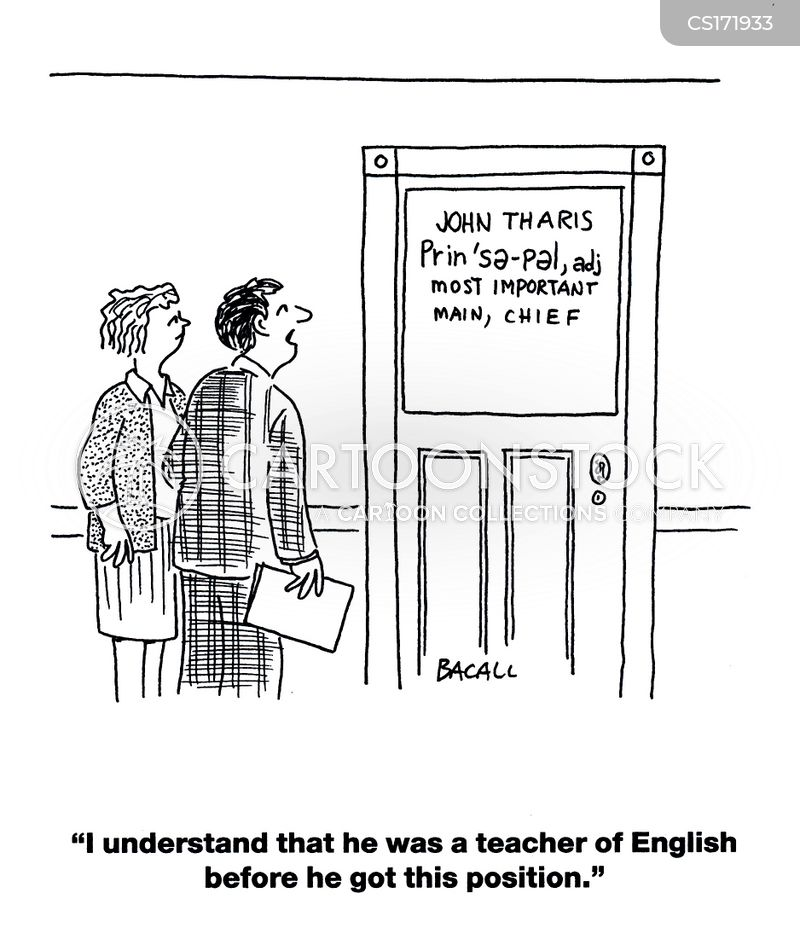 english teacher cartoon