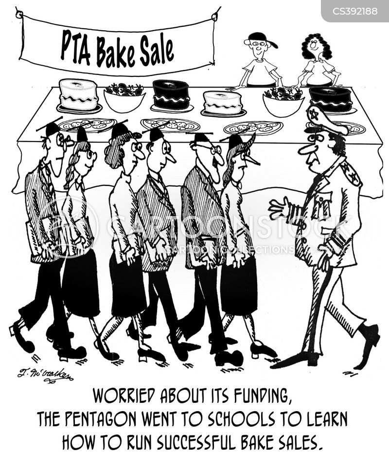 worried about their funding the pentagon went to schools to learn how to run successful bake sales