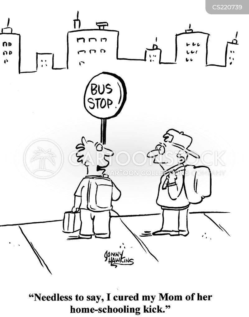 busing cartoon