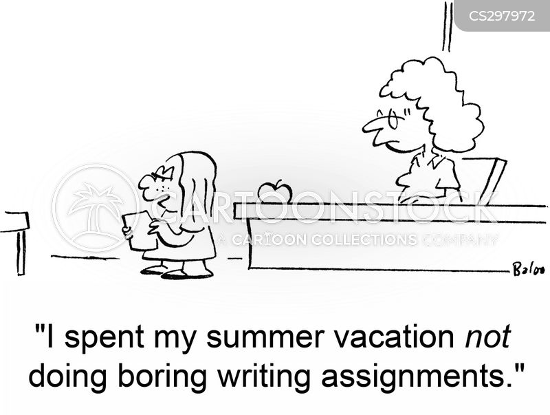 writing assignments cartoon