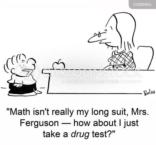 drugs tests cartoon