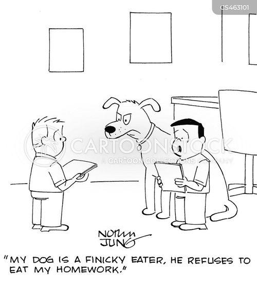 finicky eater cartoon