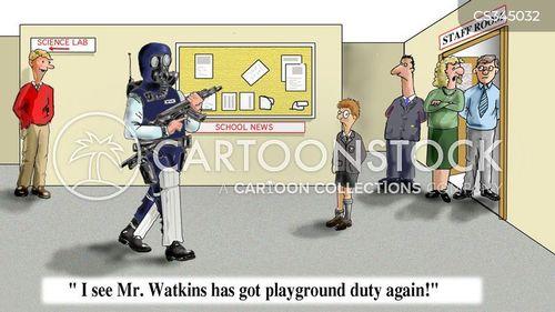 riot police cartoon