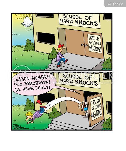 kicked out cartoon