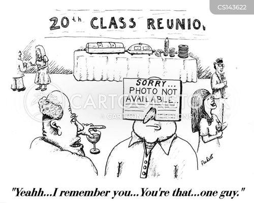 school reunion cartoon