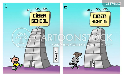computer generations cartoon