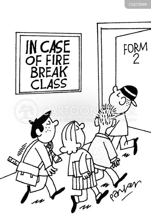 in case of fire cartoon