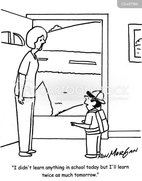 schoolchild cartoon