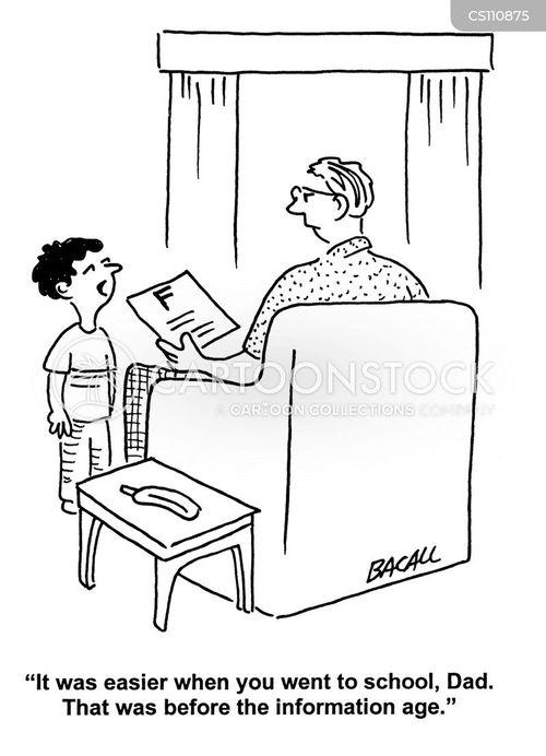 school grades cartoon