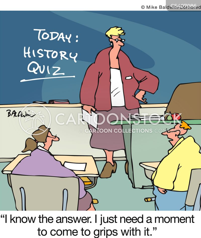 history exam cartoon