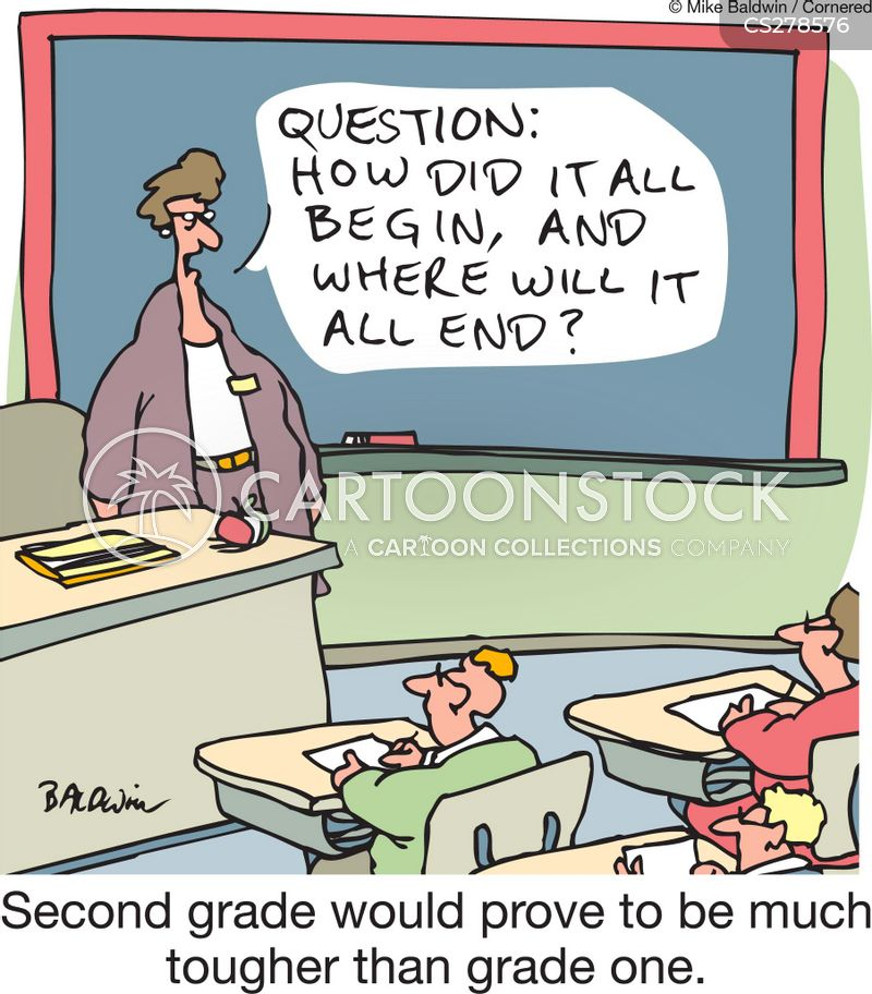 essay questions cartoon