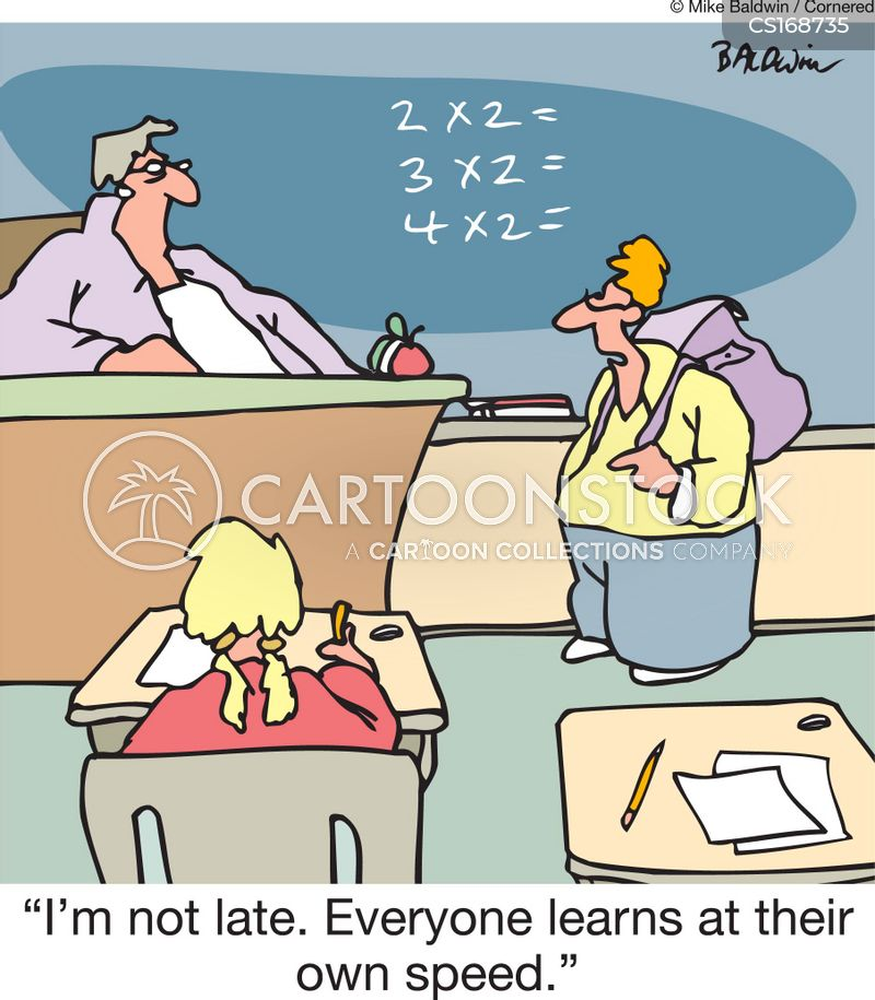 late for class cartoon