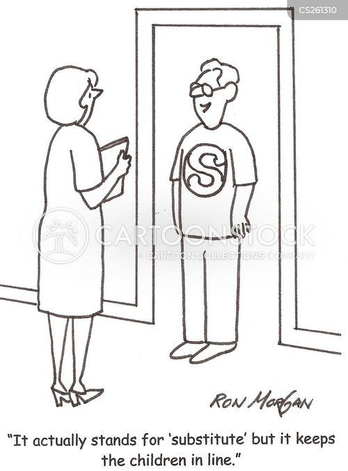 in line cartoon