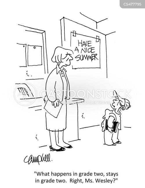 end of school cartoon
