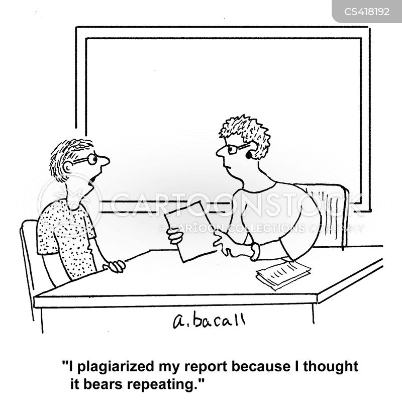 plagiarises cartoon