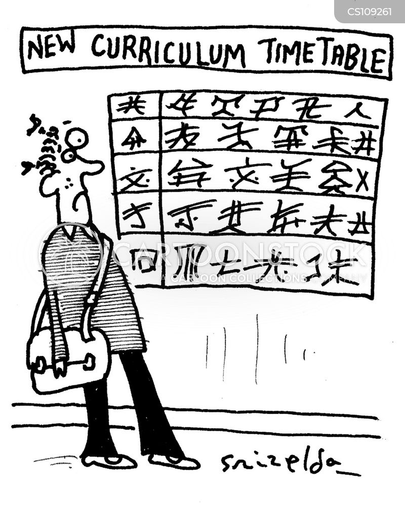 timetable cartoon