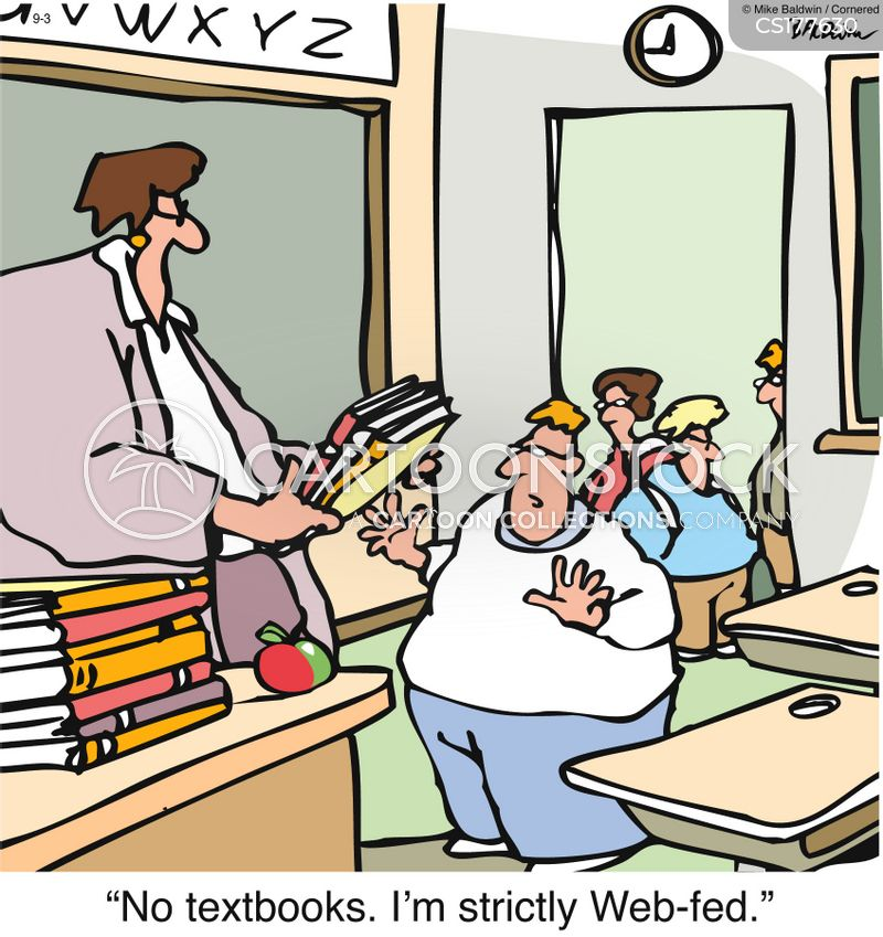 text books cartoon