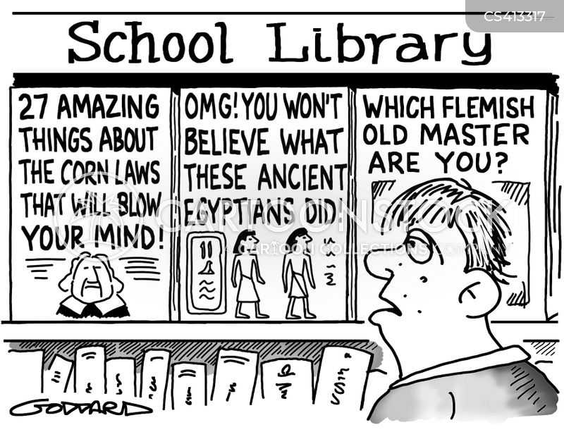 School Library Cartoons Funny