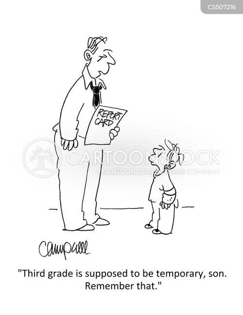passing grades cartoon