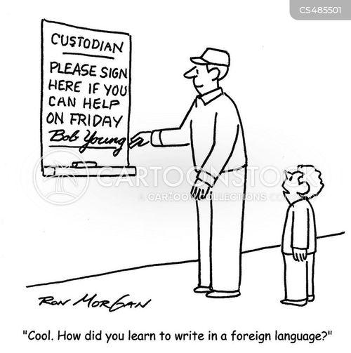 cursive cartoon
