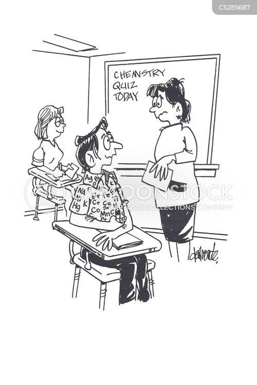 science tests cartoon