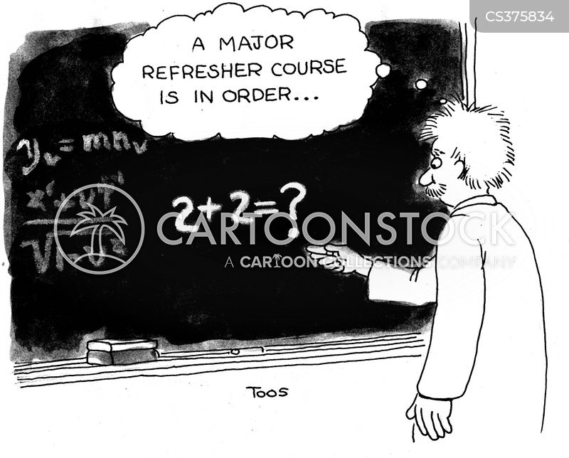 refresher courses cartoon