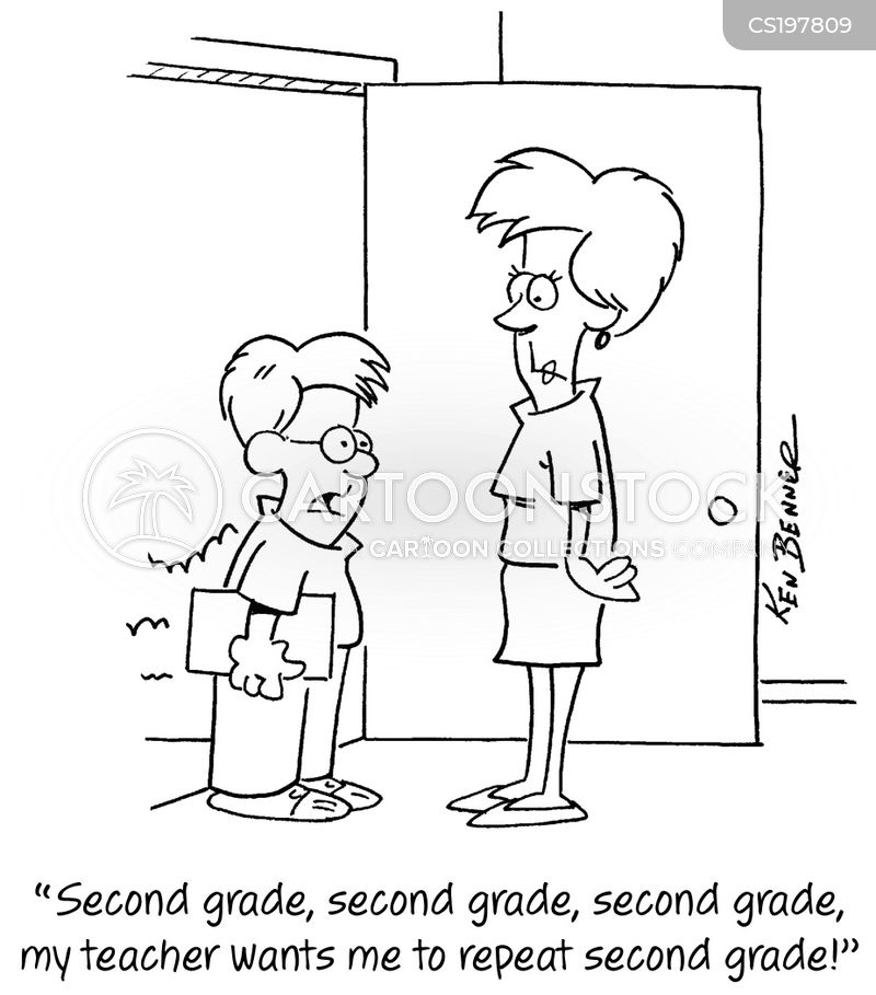 failing grade cartoon