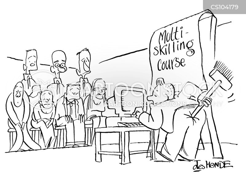 evening classes cartoon