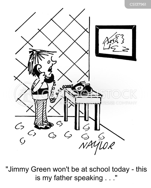 going to school cartoon