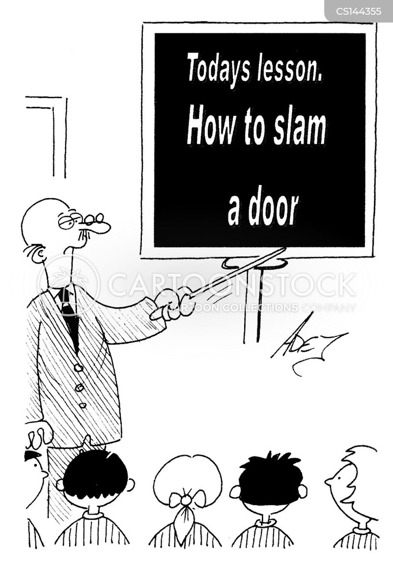 Slamming Doors cartoon 1 of 2