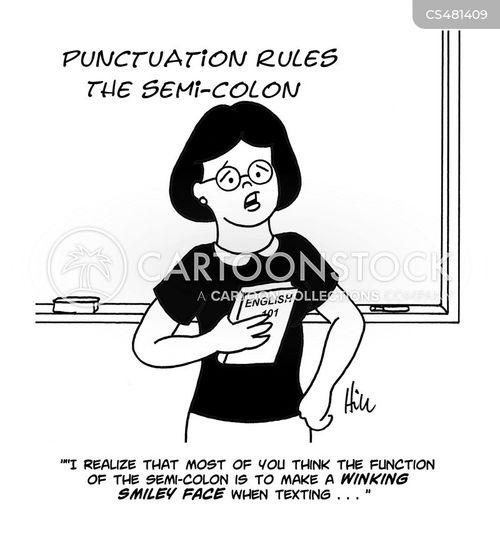 semi-colon cartoon
