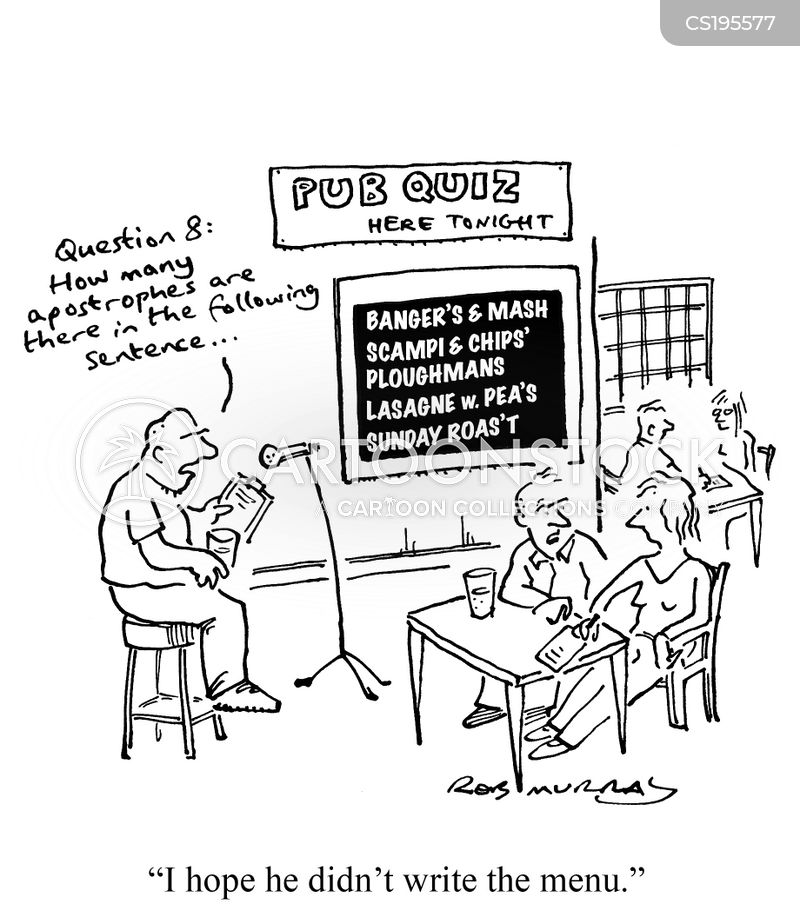 Pub Quiz Cartoons and Comics - funny pictures from CartoonStock