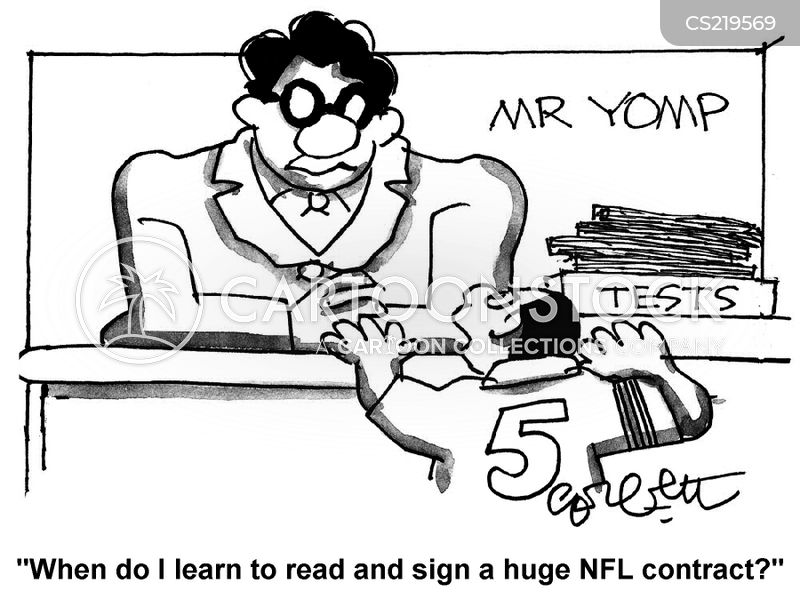 sports contracts cartoon