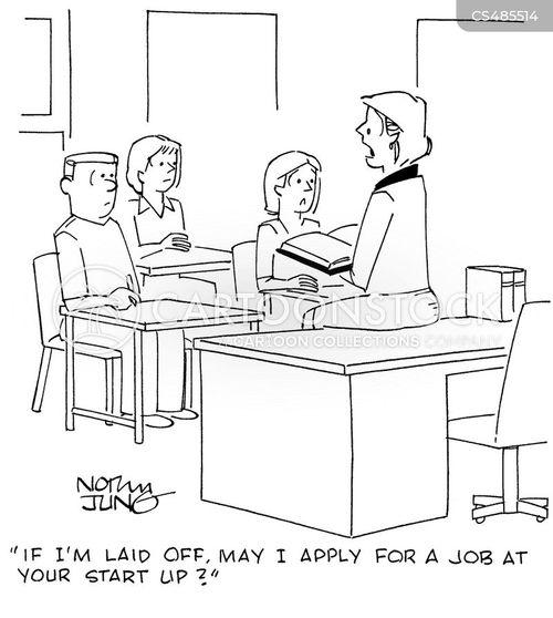 business classes cartoon