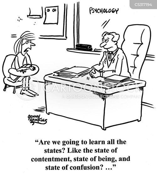 american state cartoon