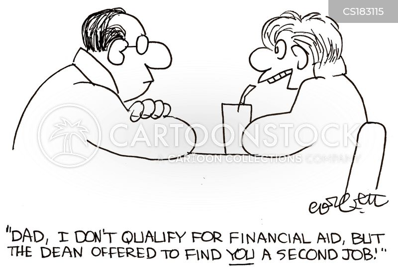 financial aid cartoon