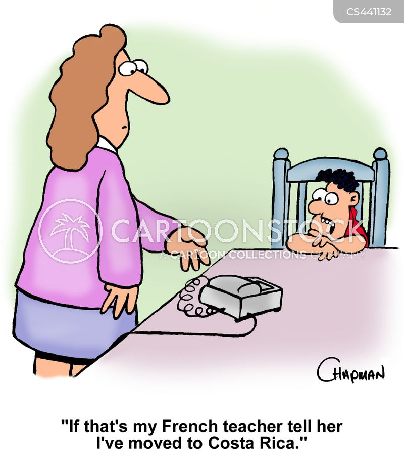 french teacher cartoon