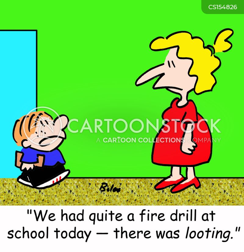 fire drill cartoons and comics funny pictures from