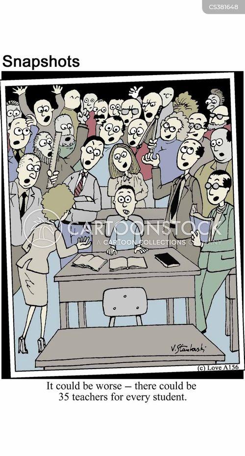 class sizes cartoon