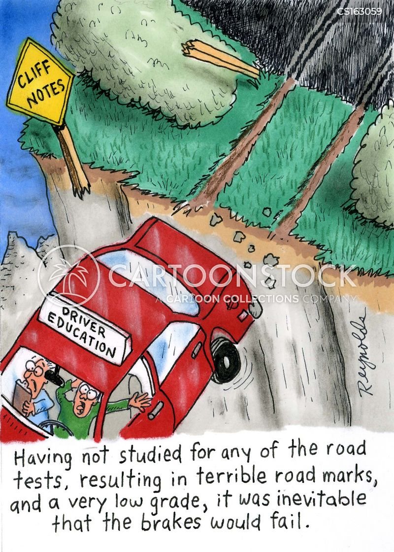student drivers cartoon