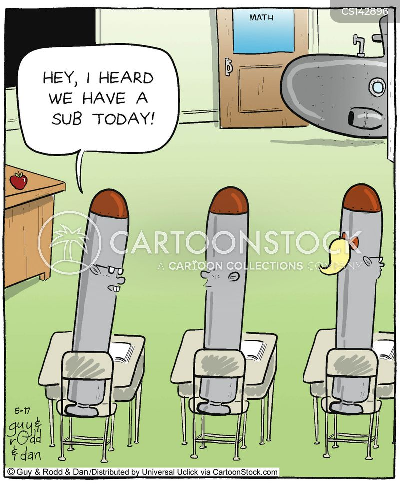 sub teacher cartoon